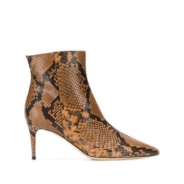 snakeskin-effect pointed boots