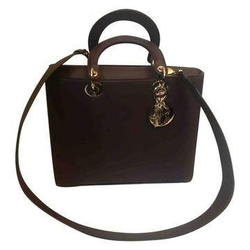 Dior Lady Dior Brown Leather Handbag