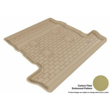 3D MAXpider 2008-2017 Toyota Land Cruiser All Weather Cargo Liner in Tan with Carbon Fiber Look