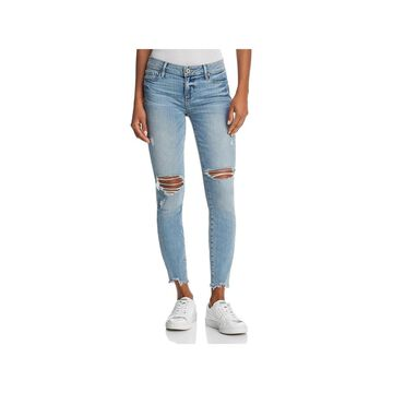Paige Womens Skinny Jeans Destroyed Frayed Hem