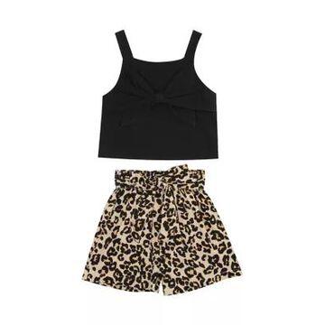 Rare Editions Girls' Toddler Girls 2-Piece Leopard Shorts Set - -
