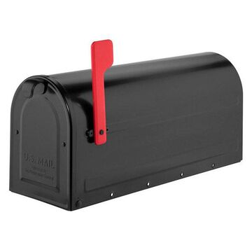 Architectural Mailboxes MB1 Black Post Mount Mailbox