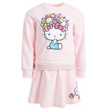 Little Girls 2-Pc. Sweatshirt & Skirt Set