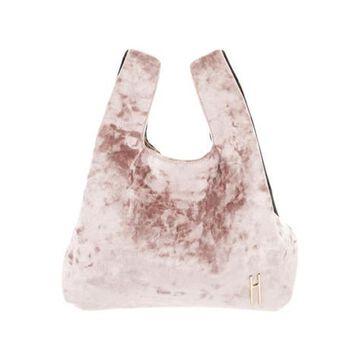 Crushed Velvet Tote Pink