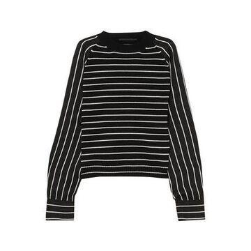 Haider Ackermann Striped Wool-blend And Satin Sweater
