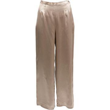 Emanuel Ungaro Khaki Silk Trousers