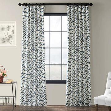 Exclusive Fabrics Ellis Printed Cotton Twill Curtain