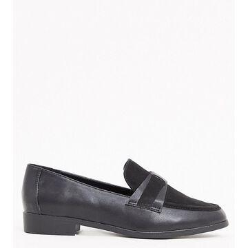 London Rebel wide-fit loafers in black
