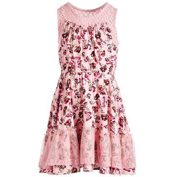 Toddler Girls Butterfly-Print Challis Dress, Created for Macy's