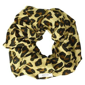 Chan Luu Leopard Print Scrunchie (Roasted Pecan) Hair Accessories