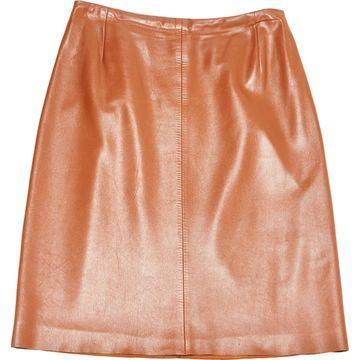 Akris Punto Camel Leather Skirts