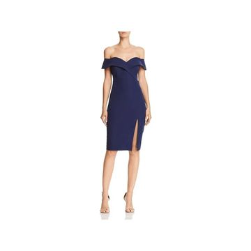 Bardot Womens Bella Cocktail Dress Off-The-Shoulder Party
