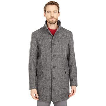 Selected Homme Morrison Wool Coat (White/Black) Men's Clothing