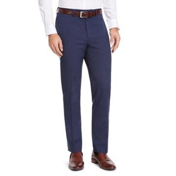 Izod Men's Classic-Fit Medium Blue Suit Pants