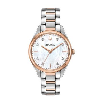 Bulova Women's Sutton Diamond Two Tone Stainless Steel Watch - 98P183