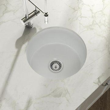 Empire Industries Yorkshire Undermount 18.5-in x 18.5-in White Single Bowl Kitchen Sink Stainless Steel