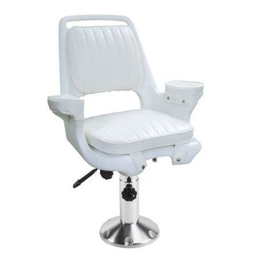 Wise 8WD1007-6-710 Captain's Chair with Adjustable Pedestal and Seat Slide