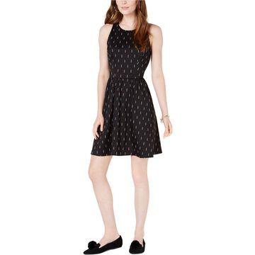 maison Jules Womens Sleeveless Fit & Flare Dress