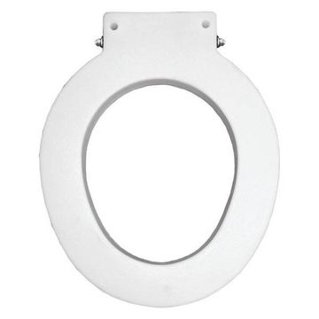 Bemis 4LR 000 Medical Assistance Plastic Round Toilet Seat, White