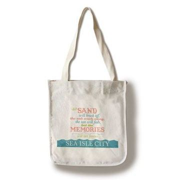 Sea Isle City, New Jersey - Beach Memories Last Forever - Lantern Press Artwork (100% Cotton Tote Bag - Reusable)