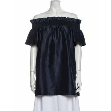 Off-The-Shoulder Mini Dress Blue