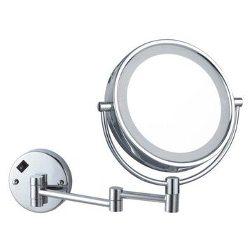 Nameeks Glimmer Round Double Sided 5x Makeup Mirror, Polished Chrome F