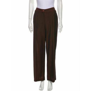 Striped Wide Leg Pants Brown