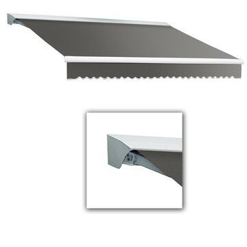 Awntech Destin 288-in Wide x 120-in Projection Dove Gray Solid Motorized Retractable Patio Awning | DTR24-L-G