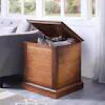 Boston Loft Furnishings Abra Oak Saddle Composite End Table