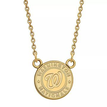 LogoArt 14K Gold Washington Nationals Pendant Necklace, Women's, Size: 18 mm