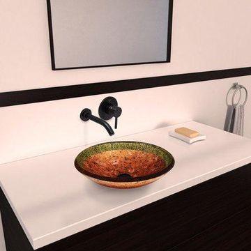 VIGO Janus Glass Circular Vessel Bathroom Sink