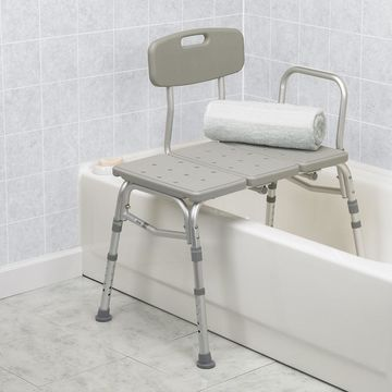Drive Medical Three Piece Transfer Bench Gray