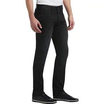 Joseph Abboud Men's Black French Terry Extreme Slim Fit Jeans - Size: 28W x 30L