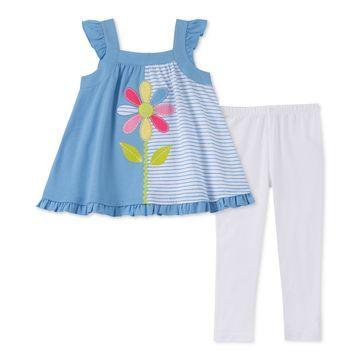 Baby Girls 2-Pc. Tunic & Printed Leggings Set