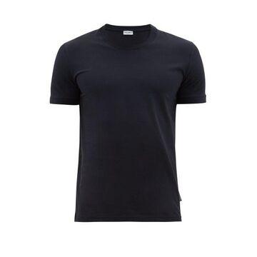 Dolce & Gabbana - Logo-tab Stretch-cotton Pyjama T-shirt - Mens - Navy