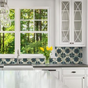 SomerTile 7.875x7.875-inch Tuscani Decor Vechio Ceramic Wall Tile (25 tiles/11.29 sqft.)