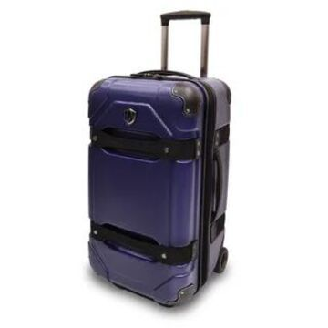 Traveler's Choice Maxporter 24-inch Polycarbonate Hardside Rolling Trunk Suitcase (Blue)