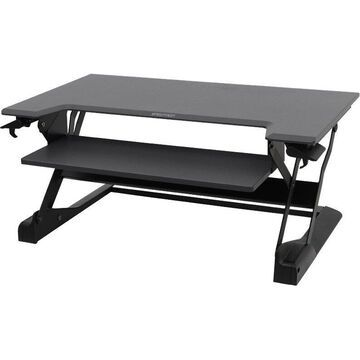 Ergotron WorkFit-TL, Sit-Stand Desktop Workstation (black) - Rectangle Top - 37.50