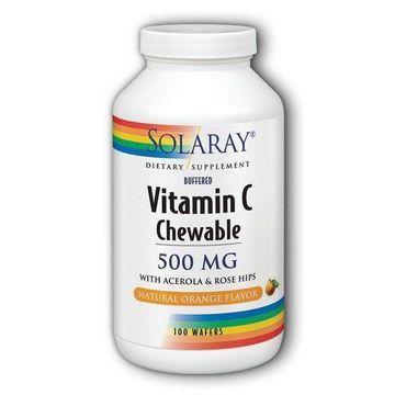 Vitamin C-500 Chewable Orange Solaray 100 Tabs