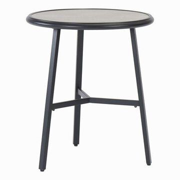 Mainstays Upton Court Round Patio Bistro Table with Faux Cement Top