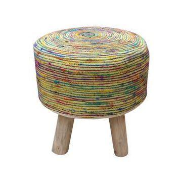 Cidney Silk Fabric Stool - Christopher Knight home