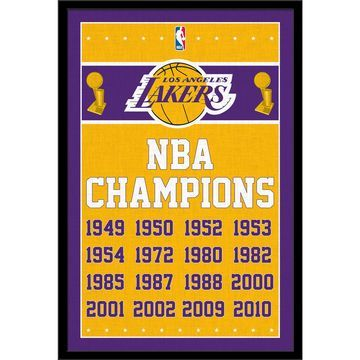 Los Angeles Lakers NBA Finals Champions 24.25'' x 35.75'' Framed Poster