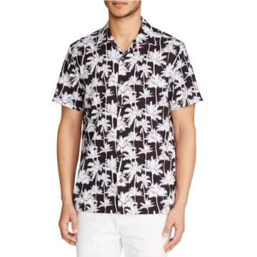 Tallia Men's Palm Tree Camp Shirt