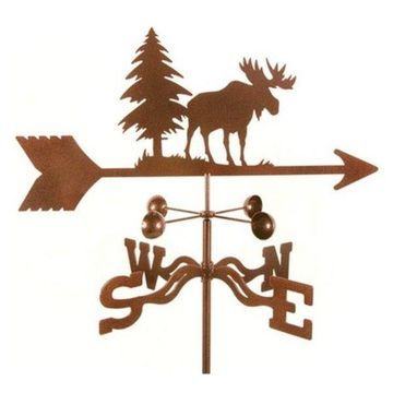 EZ Vane Moose Weathervane With Roof Mount