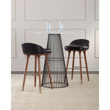 Beaumont Leather Bar Stool