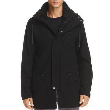 Karl Lagerfeld Paris Mens Winter Wool Basic Coat