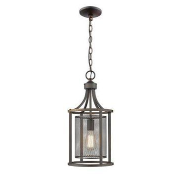 Eglo Verona Slope Mount Ceiling Pendant in Oil Rubbed Bronze with Metal Shade