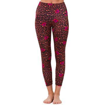 High-Rise Floral Leopard-Print Midi Leggings