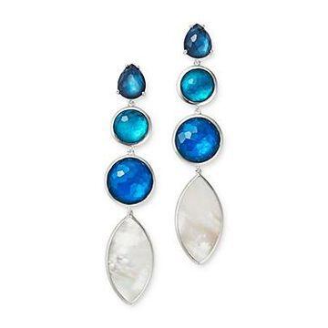Ippolita Sterling Silver Wonderland Linear Drop Earrings with Mother-of-Pearl Doublet in Blue Moon