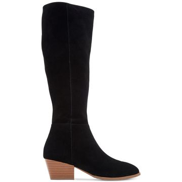 Style & Co. Womens Izalea Leather Almond Toe Knee High Fashion